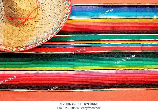 striped poncho serape sombrero background