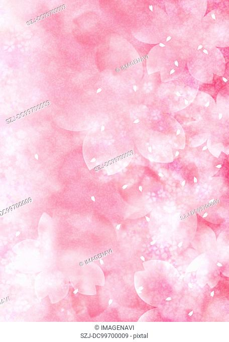 Oriental background with cherry blossom