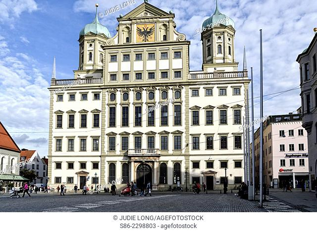 View of City Hall, Augsburg, Germany