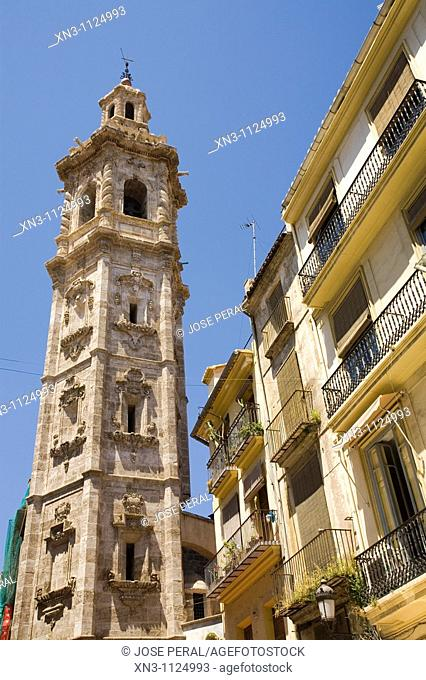 Santa Catalina tower (17th century), Valencia. Comunidad Valenciana, Spain