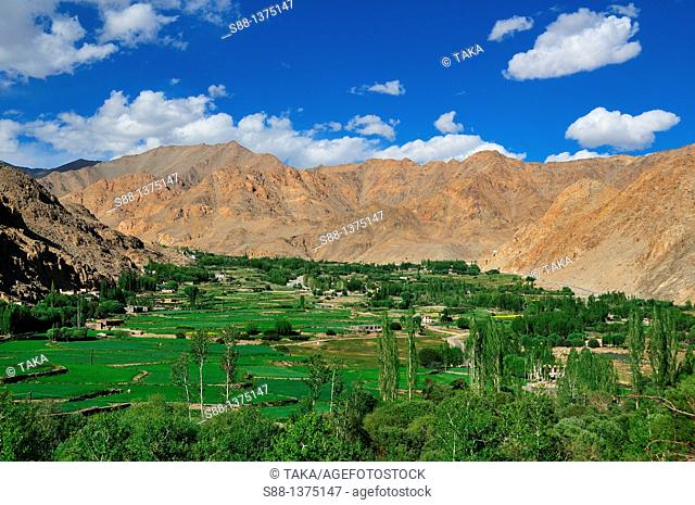 Phyan village in the quietness in the mountain