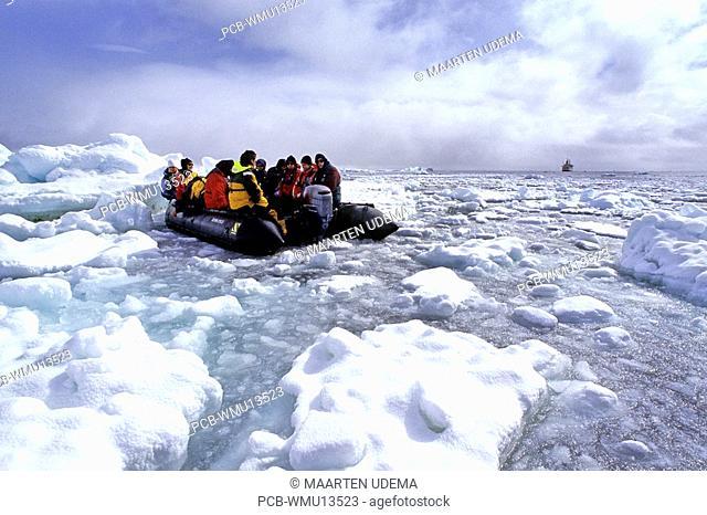 Tourists among pack ice