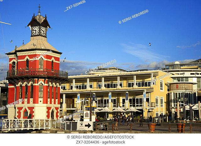 Historic Clock Tower and Tide Gauge Victoria and Albert Waterfront Cape Town South Africa