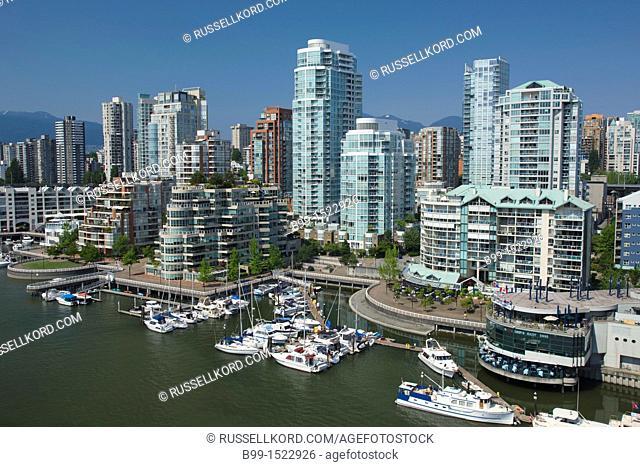 Yaletown Skyline False Creek Downtown Vancouver British Columbia Canada