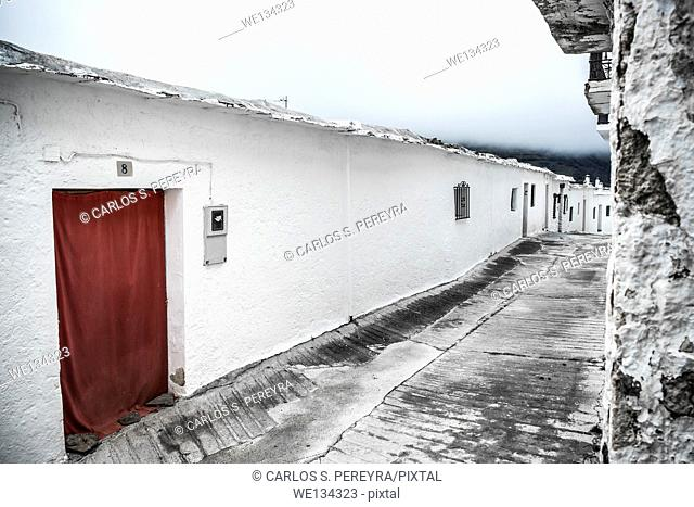 Architecture detail in Capileira in Poqueira ravine, La Alpujarra, Granada province, Andalusia, Spain