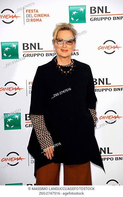 meryl streep;streep; actress; celebrities; 2016; rome; italy; event; photocall ; florence; rome film festival