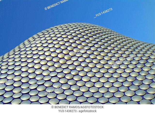 Detail of the Selfridges Building exterior, Birmingham, England, designed by the Future Systems architectural practice