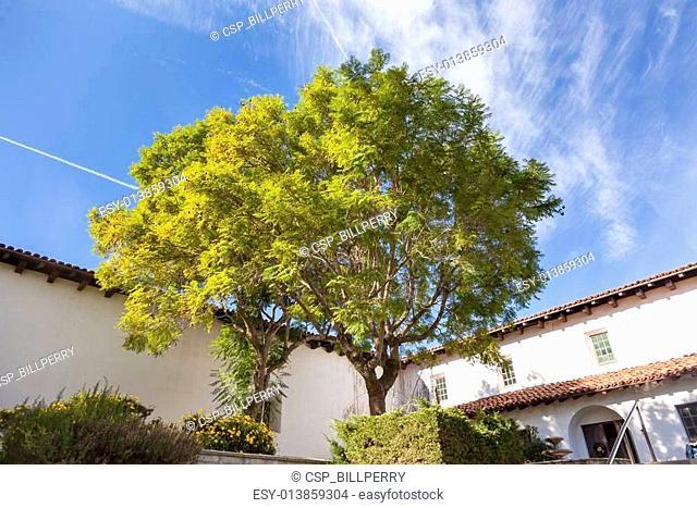 Mission San Luis Obispo de Tolosa Courtyard California
