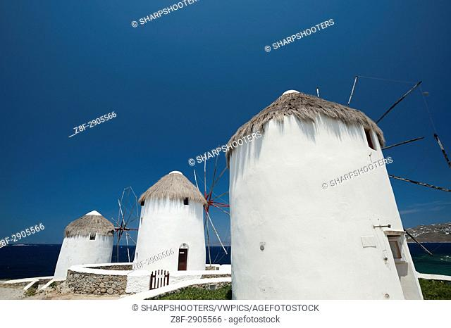 Windmill, Mykonos Town, Chora, Mykonos, Cyclades, Greece