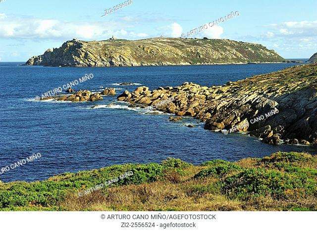 The islands Sisargas in the Costa da Morte. Malpica de Bergantiños, La Coruña, Spain