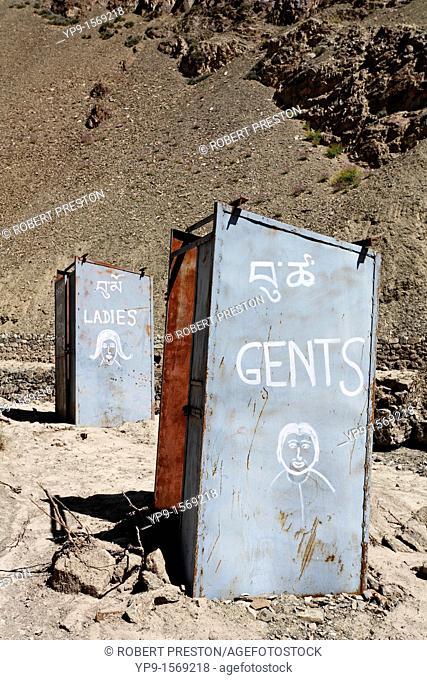 Public toilets in Ladakh, India