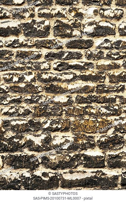 Close-up of a weathered wall, Oxford, Oxfordshire, England