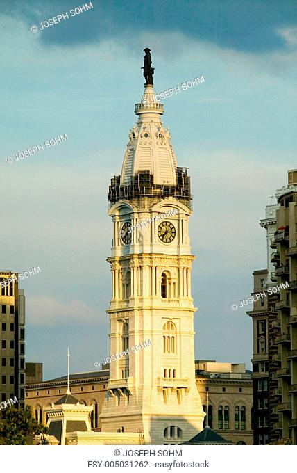 City Hall with Statue of William Penn on top, Philadelphia, Pennsylvania during Live 8 Concert