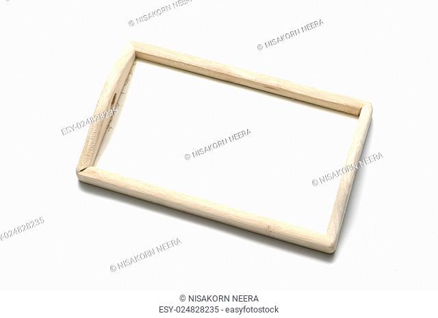 kitchen wood tray on white background