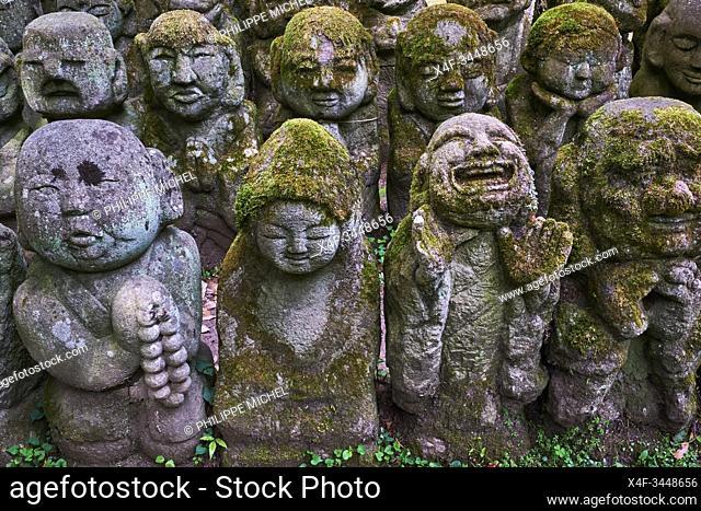 Japan, Honshu island, Kansai region, Kyoto, Otagi Nenbutsuji temple