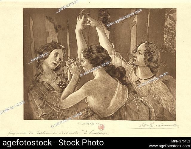 Fragment du Printemps de Botticelli Additional title: Le Printemps, d'après Botticelli. Avery, Samuel Putnam, 1822-1904 (Collector) Guérard, Henri-Charles