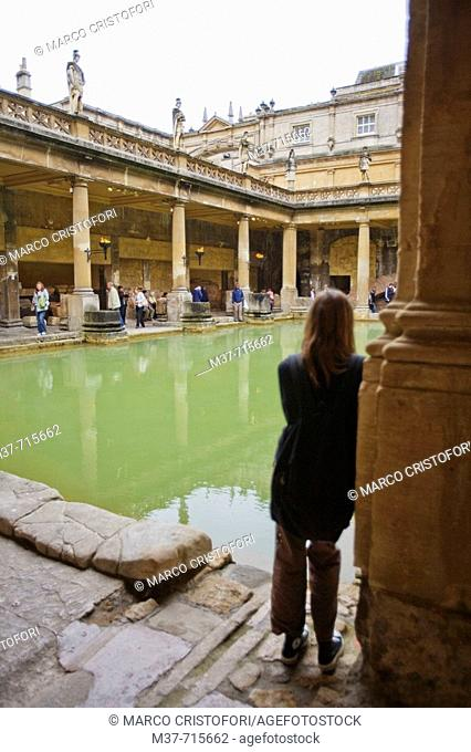 Roman baths, Bath. Avon, England, UK