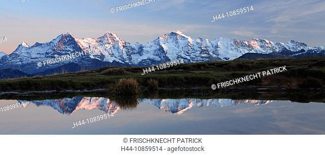 Swiss alps, View from Niederhorn, Schreckhorn, Fin
