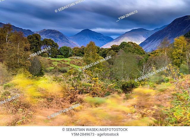 Cumbrian landscape near Nether Wasdale, Lake District National Park, Cumbria, England, United Kingdom, Europe