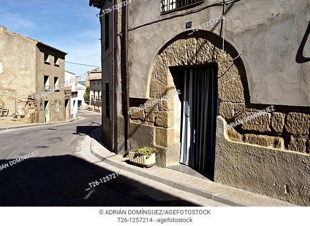 Corner in a town of Los Monegros. Aragon, Spain