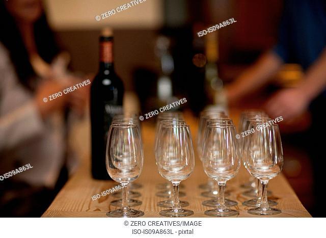 Preparing for wine tasting