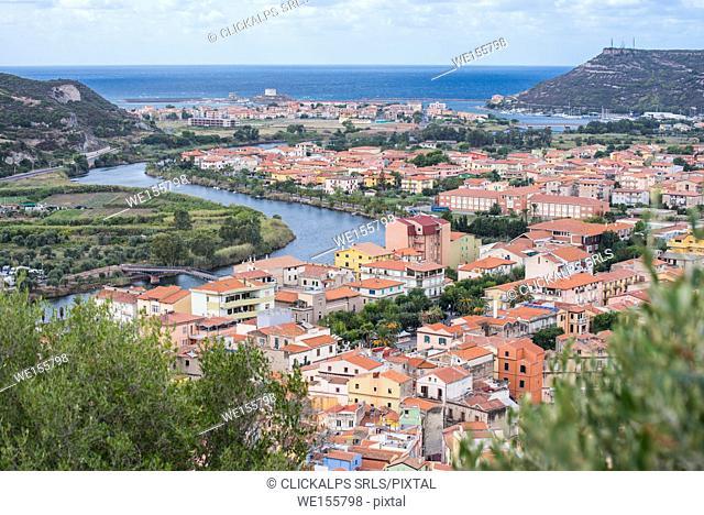 Bosa, oristano province, sardinia, italy. europe