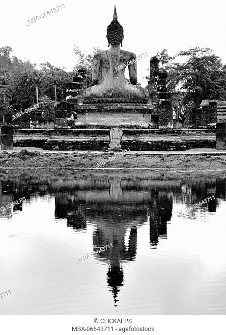 Buddha in the park of Sukhothai, Thailand, Asia