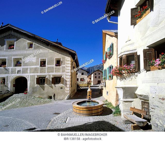 Guarda Engadin Canton of Graubuenden Switzerland