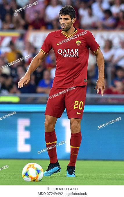 Roma football player Federico Fazio during the match Roma vs Real Madrid at the Olimpic Stadium. Rome (Italy) August 11th, 2019