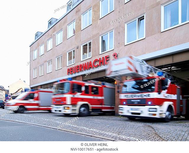 Fire Station 3, Nuremberg, Middle Franconia, Bavaria, Germany, Europe