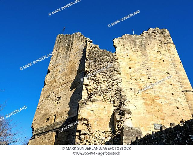 The Kings Tower at Knaresborough Castle Knaresborough North Yorkshire England