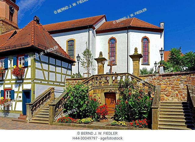 Parish church Saint Michael, rising, to Rheinzabern Germany