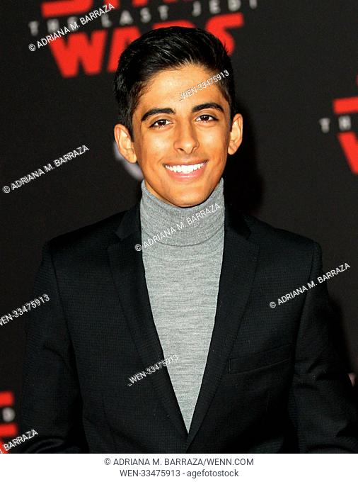"""Star Wars: The Last Jedi"" Premiere held at the Shrine Auditorium in Los Angeles, California. Featuring: Karan Brar Where: Los Angeles, California"
