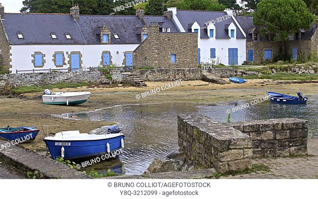 the old port at Kergouric sur Plouhinec, Morbihan, Brittany, France