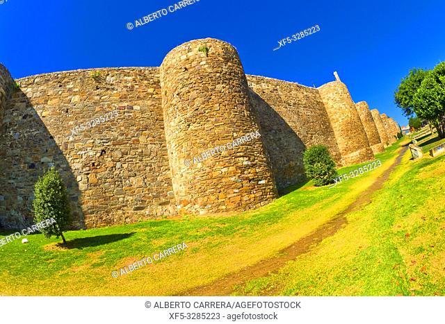 3-4th Century Roman Walls of Astorga, Astorga, León, Castilla y León, Spain, Europe