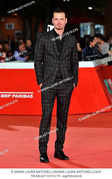 Christopher Backus poses during the red carpet for 'Drowing' at the 14th annual Rome Film Festival, in Rome, ITALY-20-10-2019