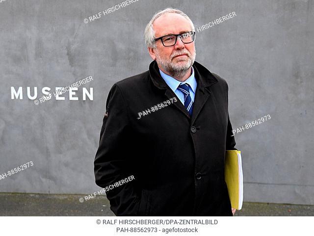 The Director of the Stiftung Brandenburgische Gedenkstaetten (Brandenburg Memorial Foundation) Guenter Morsch, standing on the grounds of the former...