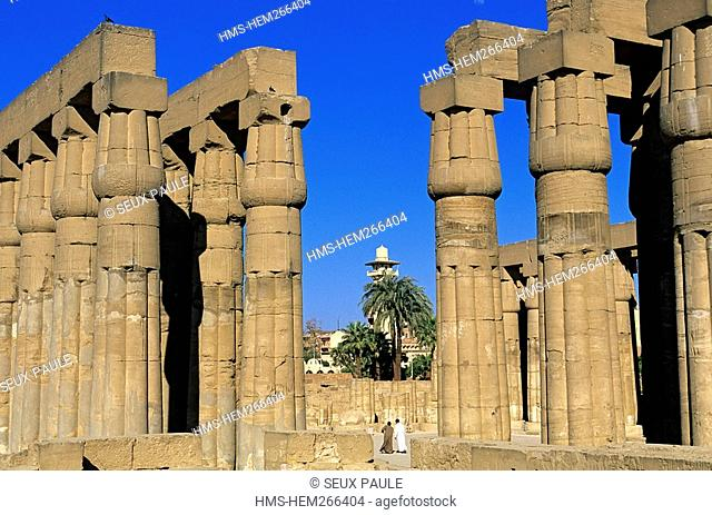 Egypt, Upper Egypt, Nile Valley, Luxor, Luxor Temple listed as World Heritage by UNESCO