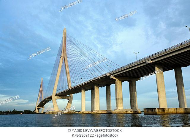 Bridge over the Mekong Delta, Can Tho, Vietnam