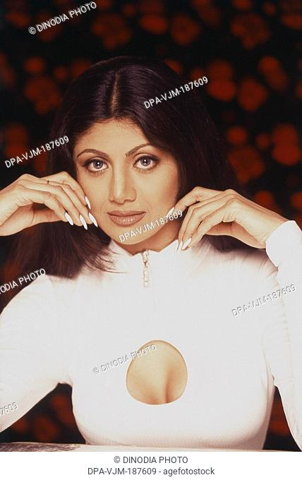 1996, Portrait of Indian film actress Shilpa Shetty