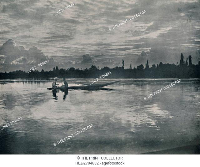 'Sunset on the Dal Lake, Kashmir', 1936. Creator: Unknown