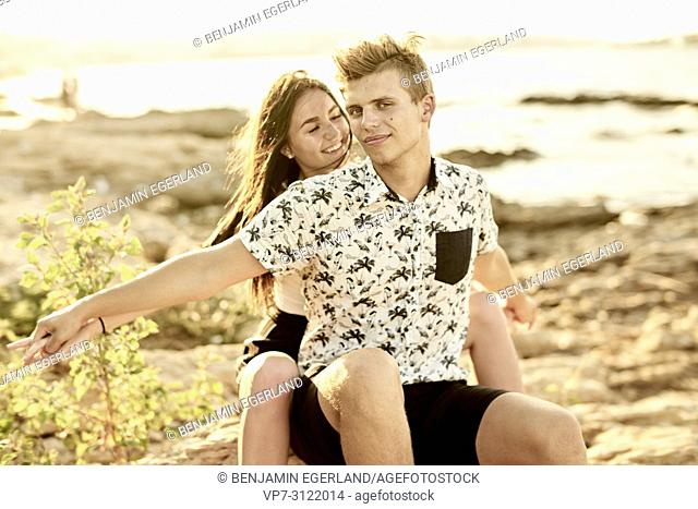 Couple, relationship, partner, love. Chersonissos, Crete, Greece