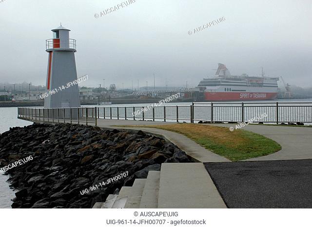 Navigation marker for boats entering the port