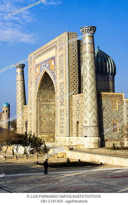 Sher-Dor Madrasah. Registan square, Samarkand, Uzbekistan