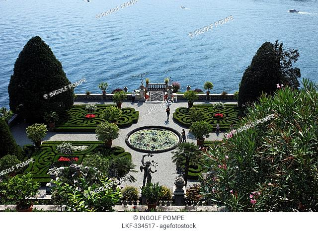 Park, Borromean Palazzo, Isola Bella, Stresa, Lago Maggiore, Piedmont, Italy