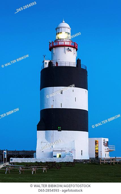 Ireland, County Wexford, Hook Peninsula, Hook Head, Hook Head LIghthouse, dusk