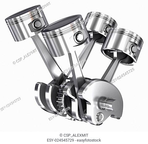 Engine Piston Cog Stock Photos And Images