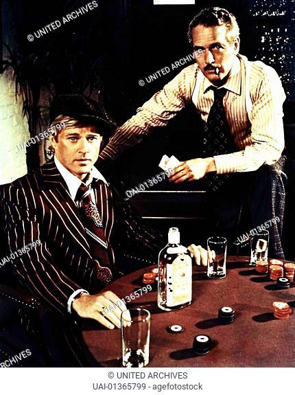 The Sting - Robert Redford, Paul Newman Johnny (Robert Redford) und Henry (Paul Newman) tuefteln ihren raffinierten Plan aus
