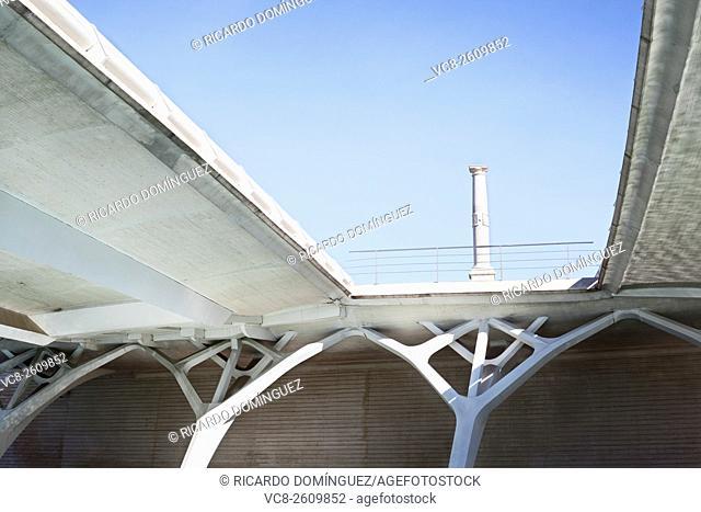 Pope Benedict XVI visit memorial at Montolivet bridge. Valencia, Spain