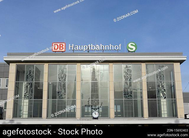 Hauptbahnhof, Dortmund, Nordrhein-Westfalen, Deutschland, Europa